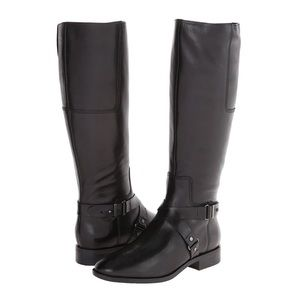 NWOT Nine West Blogger Leather Riding Boots